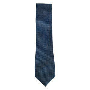 Haggar Blue Gray Dots Squares Polyester Slim Tie